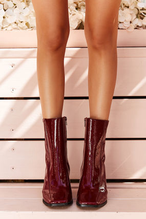 Casual Style Plain Party Style Ankle & Booties Boots