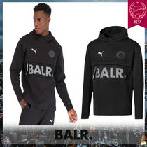 BALR Street Style Collaboration Long Sleeves Plain Hoodies