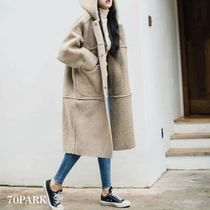 Casual Style Street Style Plain Long Coats