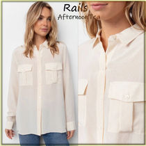 Rails Silk Long Sleeves Medium Handmade Python Shirts & Blouses