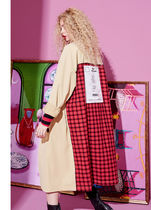 Stand Collar Coats Gingham Glen Patterns Stripes