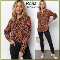 Rails Blended Fabrics Long Sleeves Other Animal Patterns Medium