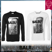 BALR Street Style Long Sleeves Cotton Sweatshirts