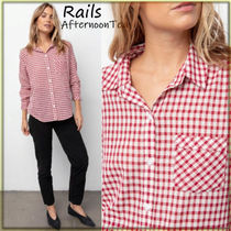 Rails Gingham Long Sleeves Cotton Medium Handmade Shirts & Blouses