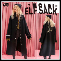 ELF SACK Casual Style Street Style Long Coats
