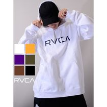 RVCA Pullovers Unisex Sweat Street Style Long Sleeves Oversized