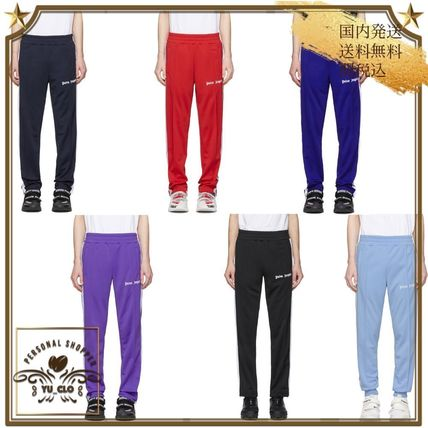 Stripes Street Style Plain Logo Pants