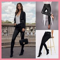 Lipsy Casual Style Nylon Plain Cotton Long Skinny Pants