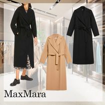 S Max Mara Wool Plain Long Office Style Elegant Style Peacoats