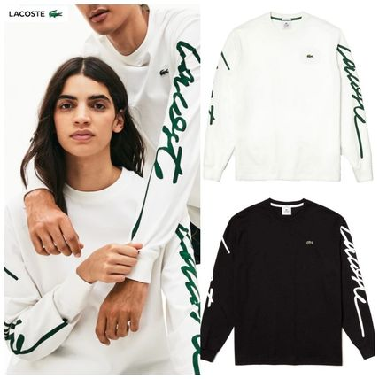 Crew Neck Street Style Long Sleeves Plain