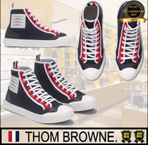 THOM BROWNE Casual Style Unisex Street Style Plain Logo Low-Top Sneakers
