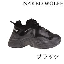 Naked Wolfe Platform Casual Style Suede Blended Fabrics Street Style