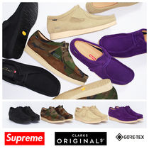Supreme Camouflage Unisex Suede Street Style Collaboration Plain