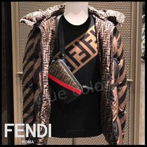 FENDI Crew Neck Pullovers Wool Street Style Long Sleeves Plain