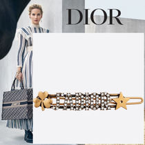 Christian Dior JADIOR Barettes Star Clover With Jewels Clips