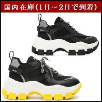 PRADA Casual Style Street Style Plain Leather Low-Top Sneakers