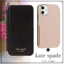kate spade new york Unisex Street Style Leather Smart Phone Cases
