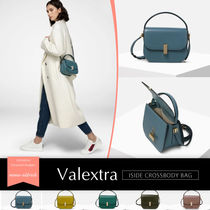 Valextra Iside Casual Style Calfskin Plain Shoulder Bags