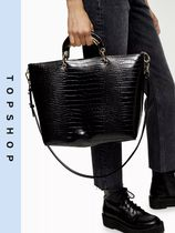 TOPSHOP Casual Style Faux Fur 2WAY Totes