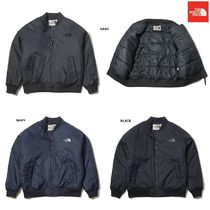 THE NORTH FACE Stand Collar Coats Argile Unisex Nylon Street Style Plain