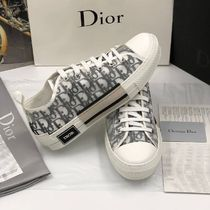 DIOR HOMME Street Style Leather Sneakers