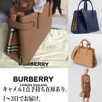 Burberry Casual Style Calfskin 2WAY Elegant Style Totes