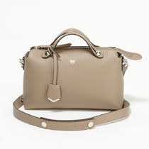 FENDI BY THE WAY 2WAY Plain Leather Party Style Handbags