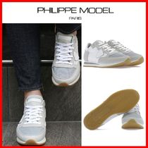 PHILIPPE MODEL PARIS Street Style Leather Low-Top Sneakers