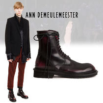 Ann Demeulemeester Street Style Plain Leather Boots