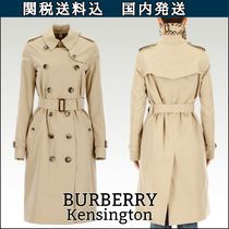 Burberry THE KENSINGTON Other Check Patterns Blended Fabrics Plain Long