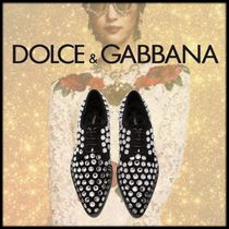 Dolce & Gabbana Leather Party Style Elegant Style Loafer Pumps & Mules