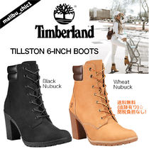 Timberland Lace-up Casual Style Plain Leather Lace-up Boots