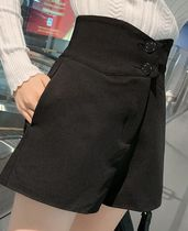 Short Casual Style Wool Plain Shorts