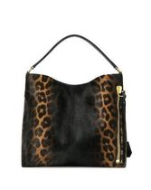 TOM FORD Leopard Patterns Casual Style Street Style Handbags