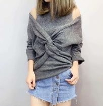 Casual Style Long Sleeves Plain High-Neck