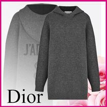 Christian Dior JADIOR Casual Style Cashmere Long Sleeves Plain Elegant Style
