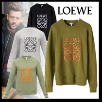 LOEWE Crew Neck Long Sleeves Cotton Sweatshirts