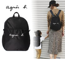 Agnes b Casual Style Unisex Nylon Plain Backpacks