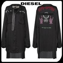 DIESEL Casual Style Street Style Long Sleeves Long Shirts & Blouses