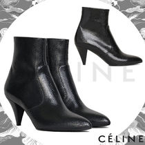 CELINE Plain Leather Party Style Python Elegant Style