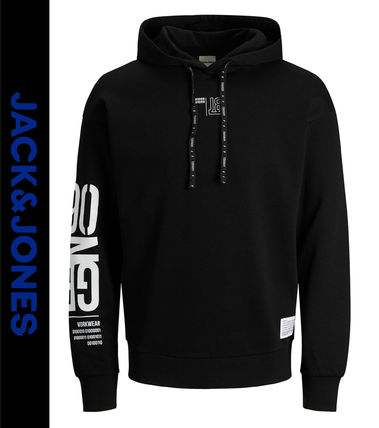 Sweat Street Style Long Sleeves Logo Hoodies