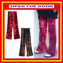 OPEN THE DOOR Casual Style Street Style Pants