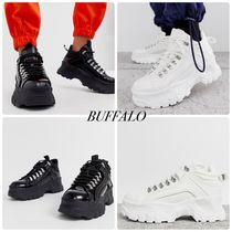 Buffalo LONDON Platform Lace-up Casual Style Faux Fur Street Style Plain