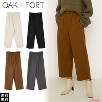OAK + FORT Casual Style Plain Long Cropped & Capris Pants
