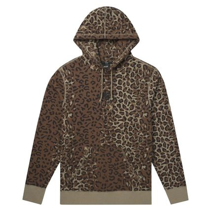 HUF Hoodies Pullovers Leopard Patterns Street Style Long Sleeves Plain 2