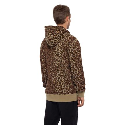 HUF Hoodies Pullovers Leopard Patterns Street Style Long Sleeves Plain 3
