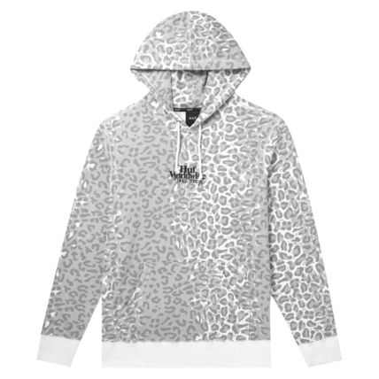 HUF Hoodies Pullovers Leopard Patterns Street Style Long Sleeves Plain 4