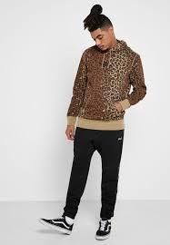 HUF Hoodies Pullovers Leopard Patterns Street Style Long Sleeves Plain 6