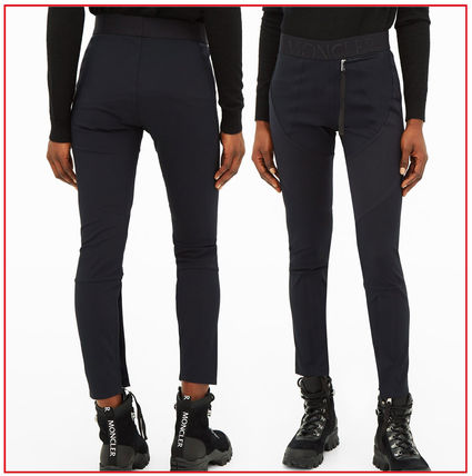 MONCLER Skinny Casual Style Nylon Street Style Collaboration Plain Long