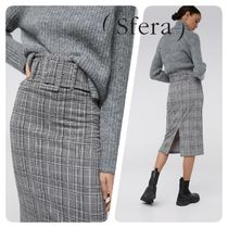 Sfera Pencil Skirts Other Check Patterns Casual Style Medium